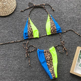 High Waist Bandage Micro Orange Leopard Bikini Push Up Swimwear Women Bathing Suit Sexy Swimsuit Brazilian Bikinis  Mujur