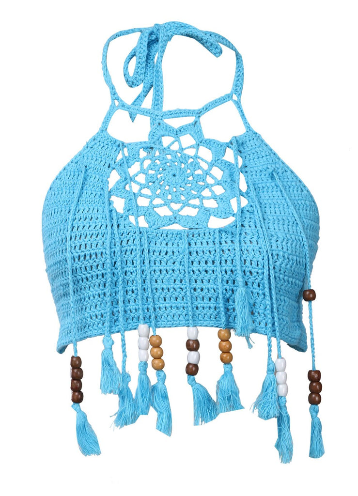 Women Crochet Lace Bralette Knit Bra Boho Beach Bikini Halter Cami Tank Crop Top wholesale