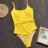 High Waisted Bathing Suit Women One Piece Swimming Suit for Women Bandage Red Swimsuit Plus Size Swimwear Womens Monokini 2019