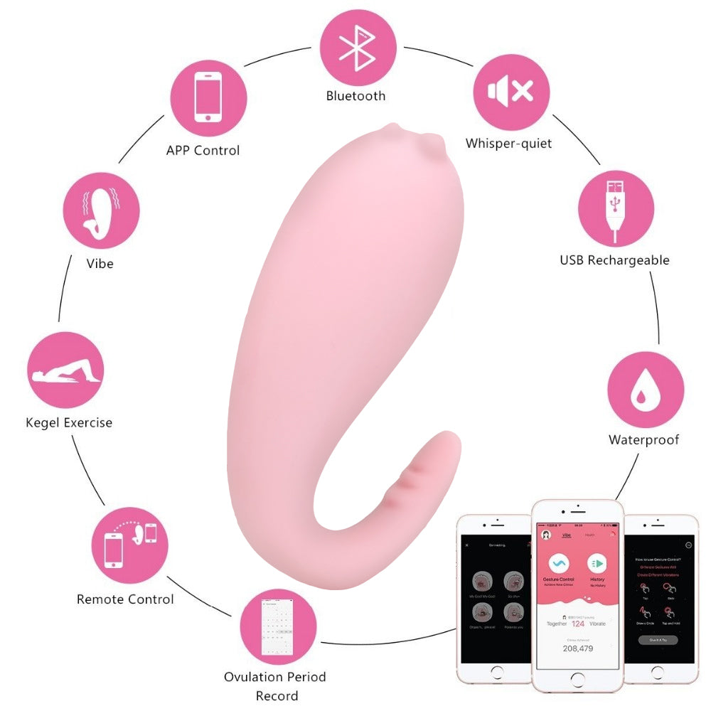 Silicone Monster Pub Vibrator APP Bluetooth Wireless Remote control G-spot Massage 8 Frequency Adult Game Sex Toys for Women