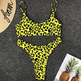 Bikini  Swimsuit Bathing Suit Women Sexy Leopard Printed Wrapped Bikini Set Maillot De Bain Femme Biquini Swimwear monokini