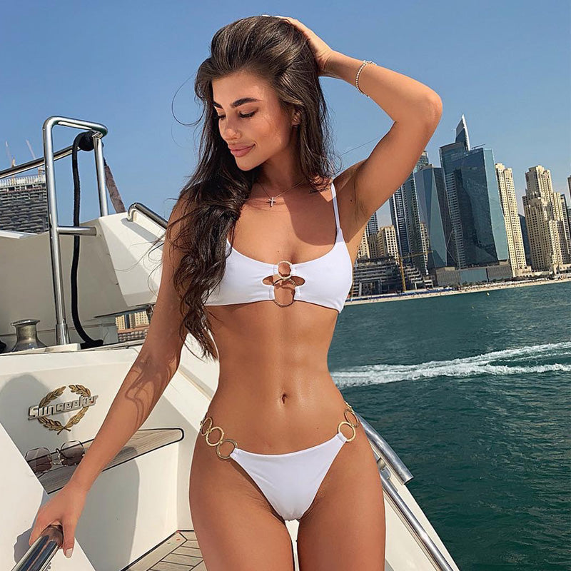 Bikinis 2019 Mujer High Waisted Bathing Suits High Cut Bikini Maillot De Bain Push Up Swimwear Women Swiming Suit Women Biquinis
