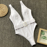 High Cut Out Swimsuit Thong Bikini Push Up Swimwear Sexy Bathing Suit Plus Size  Swimming Suit for Bathing Suit Women One Piece