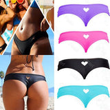 CANIS bottom thong sexy mini string swimwear bikini swimsuit  women Heart T-Back Beachwear Bikini Bottom Swimwear 2016 biquini