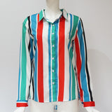 Office Ladies Shirts 2019 Casual Striped Blouse Shirt Long Sleeve Turn Down Collar