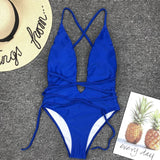 brazilian blue bikini set push up bandage sexy swimsuit women bathing suits swimwear bikinis  mujer swimming suit for women