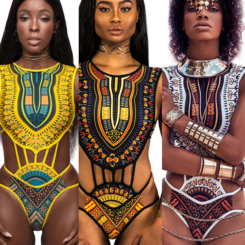 New 2018 Summer Women Ethnic Fringe Design Swimwear One Piece Monokini Hollow Out Backless Swimsuit Yellow White Black Plus Size