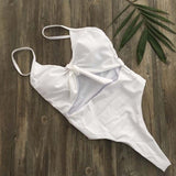 Summer Sexy Women One Piece Hollow Out Push-up Padded Bra Monokini Swimsuit Swimwear Bather Suit Swimming Suit