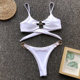 Bikinis  Mujer High Waisted Bathing Suits High Cut Bikini Maillot De Bain Push Up Swimwear Women Swiming Suit Women Biquinis