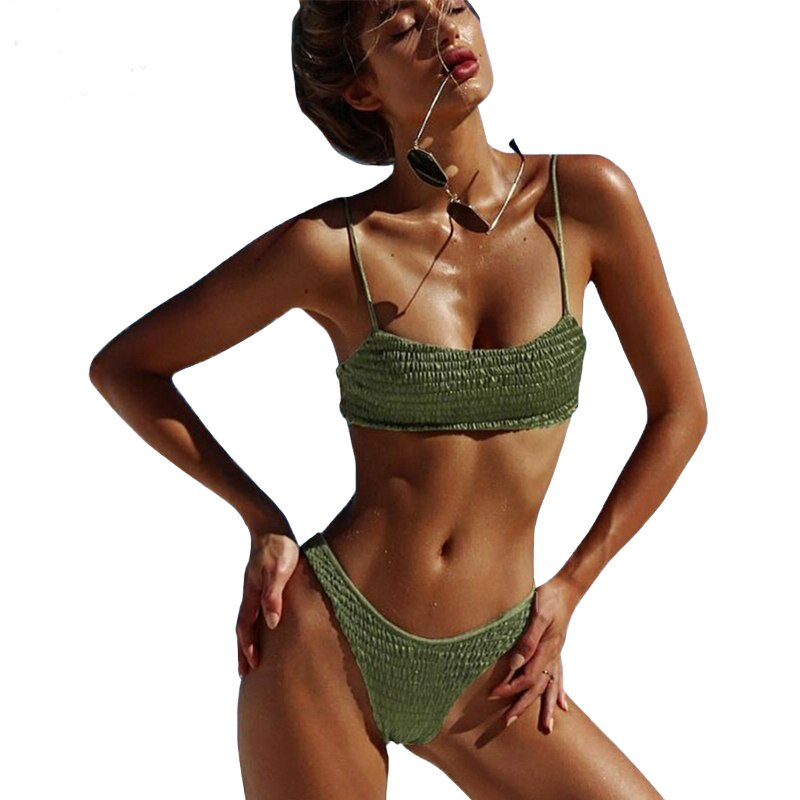 High Waist Bikini 2019 girls Swimwear Female Brazilian Bikini Push Up Swimwear Girl Monokini girls Swimsuit For Women Bikini Top