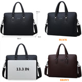 Men Leather Briefcase Bag Business Famous  Shoulder Messenger Bags Office Handbag 14 inch Laptop High Quality