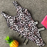 Sexy bikini high waist Leopard One Piece swimsuit women's beach Bathing Suit Women Swimwear Brazil Tankini Monokini Badpak dames