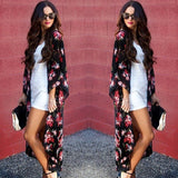 New 2018 Summer Women Boho Floral Cover ups Open Cape Casual Coat Loose Long Sleeve Cover ups