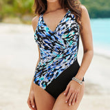 Sexy Plus Size Swimwear Women One Piece Swimsuit Female Vintage Swimming Suit