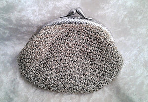 Vintage Knitted Silver Coin Purse