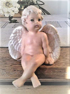 1990's Cherub Angel Shelf Sitter