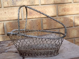 Chicken Wire Vintage Wire Basket / Wine bottle holder
