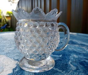 Early 1900's Pineapple Pressed Glass Toothpick Holder