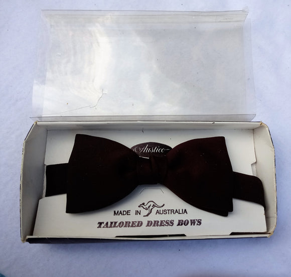 1970s Dark Brown  Formal Bow Tie