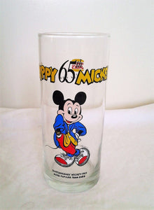 Vintage Mickey Mouse Glass - Hungry Jacks - 65th Birthday