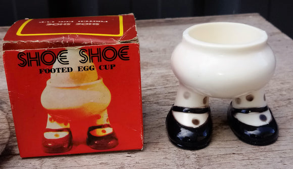 Vintage Hong Kong  Plastic Egg Cup with Legs