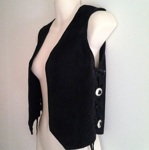 Vintage Faux Suede Childs or Small Ladies Vest