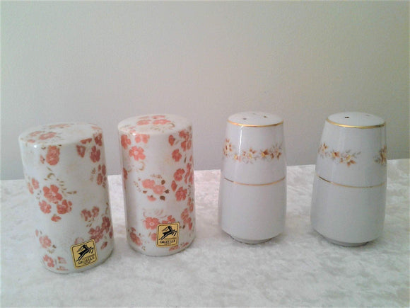 Vintage Floral Ceramic Salt & Pepper Shakers