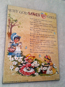 1980's Girls Religious Verse Wall Hangings