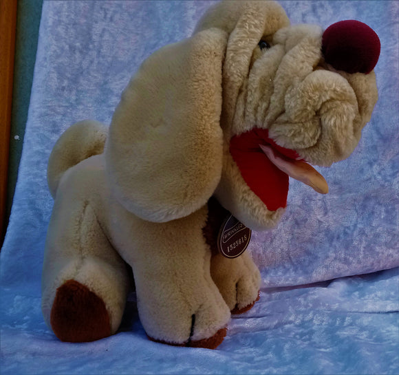 Vintage 1984 Wrinkles Plush with Leather Name Tag