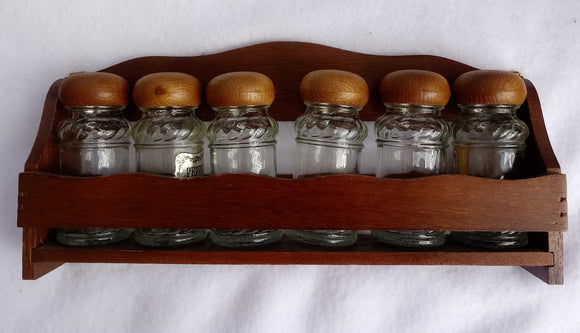 1980s Wooden Spice Rack