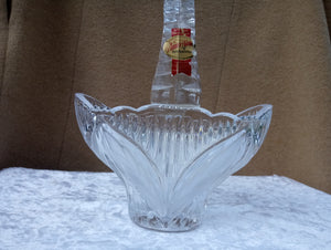 Anna Hutte Bleikristall Germany Crystal Basket - 24% Lead