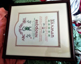 Vintage Tearoom Sampler - Embroidered Wall Hanging