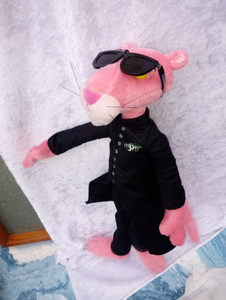 Collectible Pink Panther Dressed as Matrix Plush