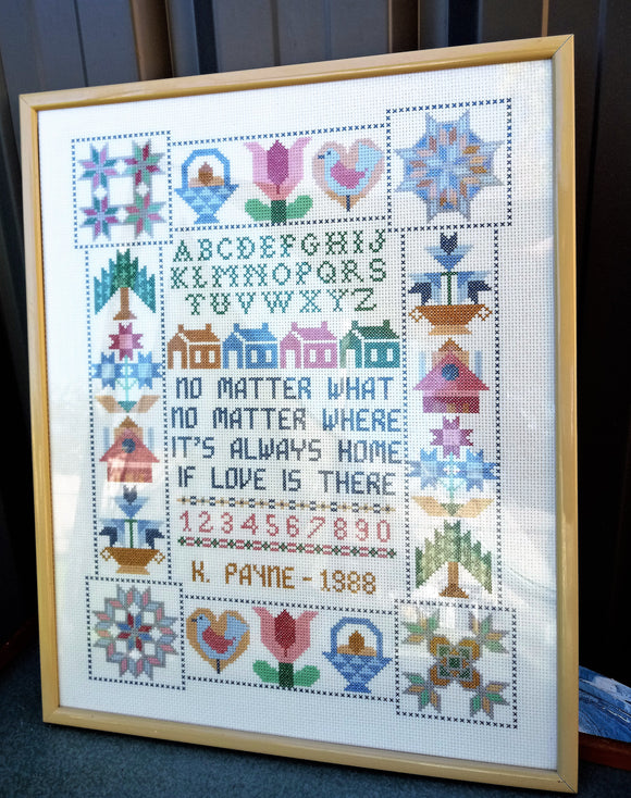 1980's Country Cottage Sampler Cross Stitch
