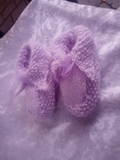 Assorted Hand Knitted Baby Booties Socks New