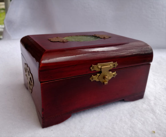 Vintage Chinese Wood Jewellery Box