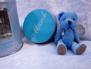 March Birthstone Bear Keyring