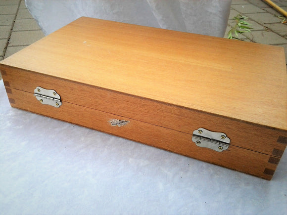 Vintage Wood Specimen Box Repurposed Slide Case