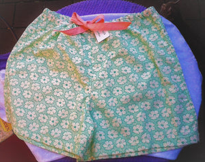 Ladies Hand Made Cotton Boxer Shorts Floral Shorts   Size 16