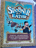 "1992 ""Spooner or Later"" Hardcover Puzzle Book by Paul Jennings"