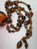 Vintage Long Amber  Necklace