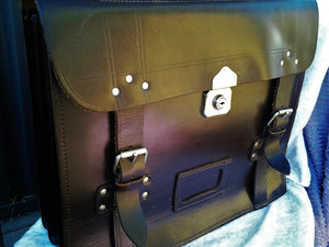 Large 1960's Leather Briefcase Laptop Bag Satchel