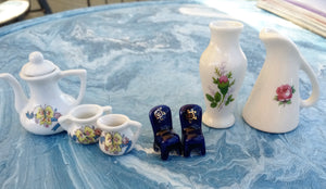 Assorted Miniatures Tea Set Vases or Chairs