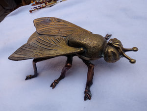 Metal Mid Centry Italian Fly Ashtray