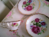 Mismatched Japanese Tea Party Trio  - Cup Saucer and Cake/Side Plate