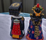Danisil Art Gallery Hand crafted Korean King and Queen  Traditional Folk Figurines