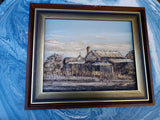 Vintage Genuine Oil Painting Outback CottageSigned Sweeey 1980