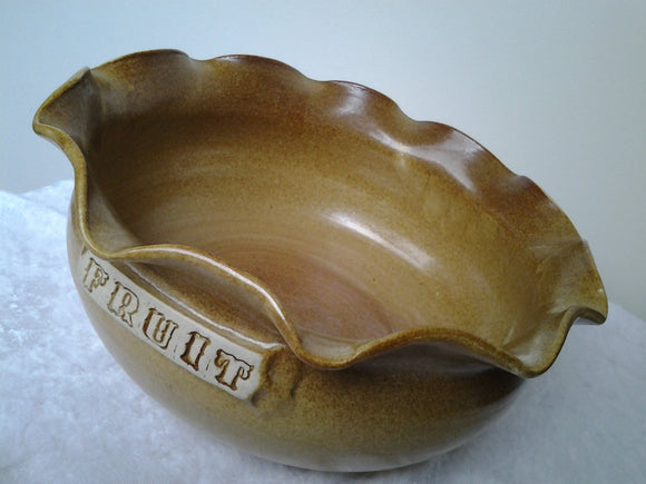 Vintage Studio Pottery Fruit Bowl