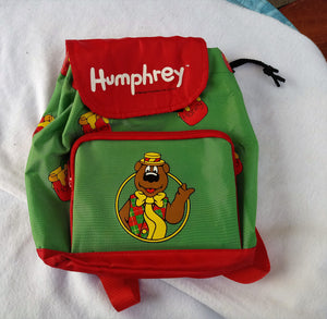 1990s Humphrey Bear Childrens Backpack, Unused
