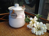Vintage SAM SCOTT Salt Glazed Porcelain Coffee Canister